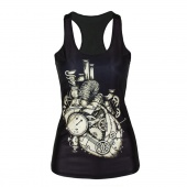 Women Girls Sexy Personalized Tee Vest Tank Top Undershirt Sleeveless T-shirt
