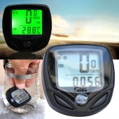 Waterproof Bicycle Bike Cycle Wireless LCD Digital Computer Speedometer Odometer Green Backlight