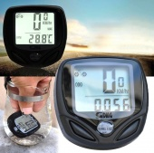 Waterproof Bicycle Bike Cycle Wireless LCD Digital Computer Speedometer Odometer White Backlight