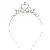 Cute Princess Hair Band Tiara for Kids Girl Children Rhinestone Headband Silver