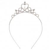 Cute Princess Hair Band Tiara for Kids Girl Children Rhinestone Headband Silver