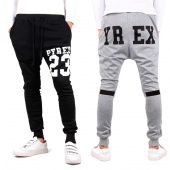 Fashion Men's Long Haroun Pants Sports Casual Wear Training Loose Trouser Elastic Waist