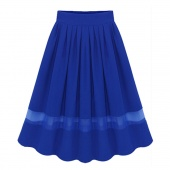 European Style Women Summer Women Chiffon Pleated Skirt Elastic Waist All-match 4 Colors
