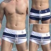 Boxer Men's Fashion Swim Trunks Pants Front Tie Swimwear Mixed Colors