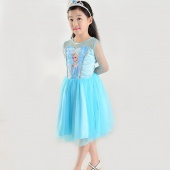 Kids Children's Princess Costume Cosplay Tulle Girls Dress Dresses 3-12Y