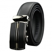 Men's Fashion Business Synthetic Leather Belt Automatic Buckle Belt
