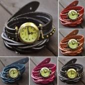 Fashion Classic Elegant Leather Strap Roma Number Dial Quartz Woman Watch 6 Colors