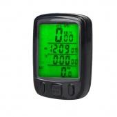 Waterproof Bicycle Bike Cycle Wired LCD Digital Computer Speedometer Odometer Green LED Backlight 563B