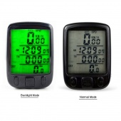1pc 563B Waterproof LCD Display Cycling Bike Bicycle Computer Odometer Speedometer with Green Backlight