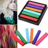 Non-toxic Temporary Salon Kit DIY Colorful Hair Chalk 6 Colors Dye Pastel