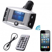Car Kit FM Audio Transmitter Bluetooth Modulator MP3 Player USB Charger SD Slot