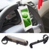 Phone Holder Car Holder Mobile Multifunction Steering Wheel Vehicle Navigation Car GPS Rest Creative Supplies