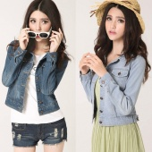 Women's Jeans Coat Blouse Short Jeans Coat 2 Colors