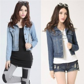 Fashion Vintage Women's Denim Short Jacket Outerwear Cool Coat