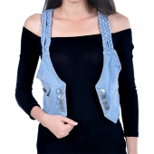 Casual Women Denim Vest Jacket Sleeveless Jean Coat Vest Shirt Tops