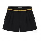 Fashion Women Shorts Summer Chiffon Loose Casual Thin Mid Waist Short Pants with Belt
