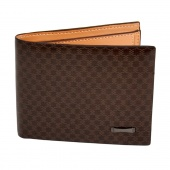 Men Money Wallet Pockets Wallet Purse Cards ID Clutch Bifold Wallet Dark Brown