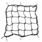 Bicycle Bungie Cargo Net with 6 Hooks, Black, Blue