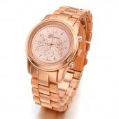 Fashion Ladies Women Girl Unisex Stainless Steel Quartz Wrist Watch
