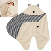 Cute Comfortable Baby Infant Children Embrace Blanket Warmer Wrap Sleeping Bag Hat Beige