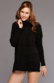 European Warm Women's Stand Collar Woman Pullovers Knitted Cashmere Sweater