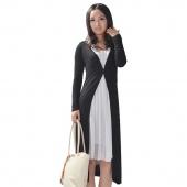 Ladies Women Long Sleeve Long Length Maxi Cardigan Plus Size
