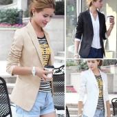 Women's European Style OL Wear to Work Stylish Suit Jacket Coat