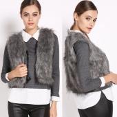 Low Price Faux Fox Fur Vest Gilet Vset Jacket Outwear Waistcoat Hot