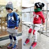 Sport Suit Finger Pattern Baby Boy Outfits 2PCS Sweatshirt + Pants Infant Clothes