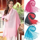 Warm Scarf Splicing Color Wool Blend Pendant Scarfs Fashion Style Winter Autumn Pashmina Scarves