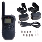 LCD 100 Level Shock Vibration Remote Dog Training Collar Controller for 2 Dogs