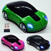 2.4G Car Shape Wireless Optical Mouse Mice for Laptop PC USB Receiver