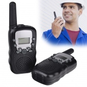 2 Pcs LCD 5km UHF Auto Multi Channels 2-Way Radio Wireless Walkie Talkie T-388