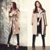 Fashion Spring Autumn Casual Women Trench Coat Long Outerwear Clothes Loose to Lady
