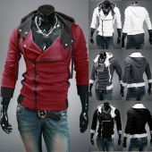 Men's Winter/Fall Slim Designed Fitted Hoodies Casual Coat Jacket Sweatshirt M-4XL