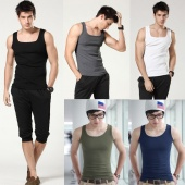 Slim Plain Basic Singlet Fit Tank Tops Vest Sleeveless Sports Gym T Shirt