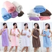 Unisex Microfiber Towels Soft Magic Bath Towel Bathrobes Bath Skirt Beach