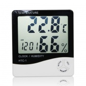 Digital LCD Thermometer Hygrometer Temperature Humidity Meter Gauge Clock Alarm