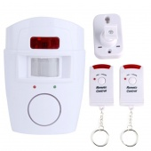 Motion Sensor PIR Wireless Alarm + 2 Remote Controls (Home/Shed/Garage/Caravan)