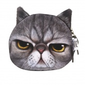Women's Fashion Clutch Purses Coin Purse Bag Wallet Cute Cat Change Purse