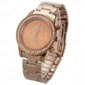 Fashion Ladies Women Girl Unisex Stainless Steel Analog Quartz Wrist Watch