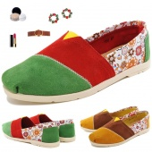 Women's Ballet Flats Slip on Shoes Casual Suede Leather Flats Shoes 2 Colors