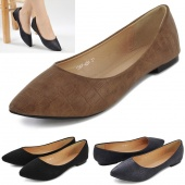 Fashion Women's Casual Pointed Toe Shoes Classic Ballet Flat Shoes 3 Colors