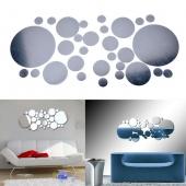 30pcs New Design Mirror Wall Sticker Frame Luxury Home Decoration Best Gift