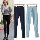 Women's Jeans Pants Elastic Denim High Waist Pencil Pants