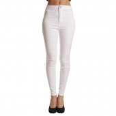 Korea Fashion Ladies High Waisted Slim Stretch Pencil Pants Casual Slim Skinny Trouser
