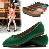 Fashion Women Casual round Toes Classic Candy Color Ballet Flat Shoes
