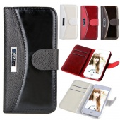 Telephone Case Cover Luxury Flip Case of Card Holder Wallet Hybrid Bags Synthetic Leather for IPhone 5S 5