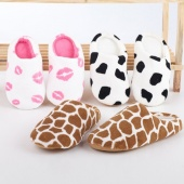 Autumn And Winter Lovers Coral Fleece Slip on Home Sandals Slippers Shoes