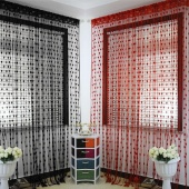 Polyester Fiber Romantic Love Heart Door/Window Curtain Size 300*300cm 17Colors